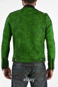 BNWT mens DIESEL LEATHER BOMBER BIKER JACKET L-BOY-A size L RRP £550