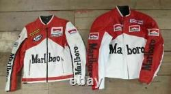 BRAND NEW Marlboro Mclaren Leather Motorcycle Motorbike Racing Jacket vintage