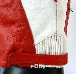 Baby Biker Kids Demon Sport Leather Childs Motorcycle Motorbike Jacket Red T