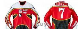 Barry Sheene 7 Men Motorbike Leather Jacket Motorcycle Bikers Racing Jackets CE