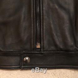 Belstaff Braxton 2.0 Leather Jacket Black Size IT 52 / UK 42 RRP £1,295.00