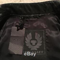 Belstaff Burnell Cafe Racer Leather Jacket Black Size IT 48 / UK 38 RRP £1,795