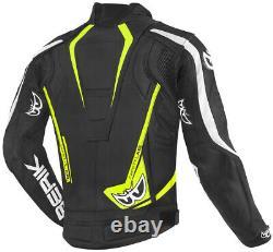 Berik zacura EVO Motorcycle armoured racing sport Leather Jacket (US 38-48)