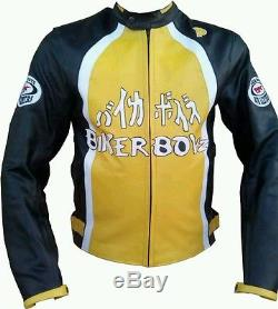 Biker Boys Motorbike Leather Jacket Ce Approved Full Protection. Real Cowhide