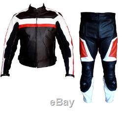 Bikers Fit Mens Xtra Protection Ce Armours Motorbike / Motorcycle Leather Jacket