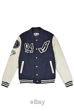 Billionaire Boys Club B JACKET Navy Off White Sleeve Button Up Coat Men's Jacket