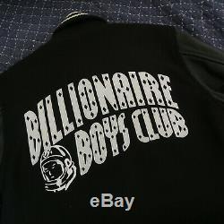 Billionaire Boys Club Varsity Leather Jacket Black Wool Sleeves M Medium Supreme