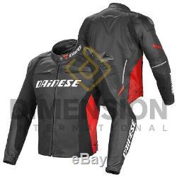 Black & Red Motorbike Leather Racing Motogp Jacket