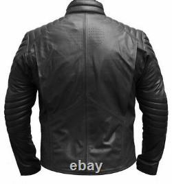 Black Spiderman Motorbike Jacket Cowhide Leather Trouser Biker's Clothing Suit
