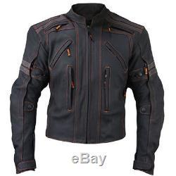 Black Stylish Motorcycle Leather Jackets Motorbike jacket Biker Racing jacket