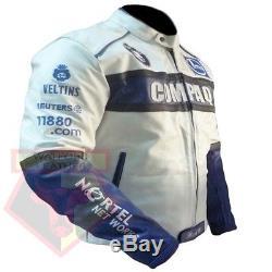 Bmw Compaq Motorbike Motorcycle Genuine Cowhide Leather Racing Armoured Jacket