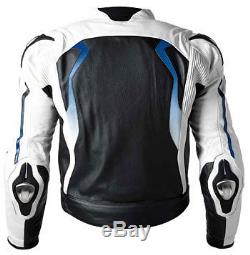 Bmw Motorbike Leather Jacket Motorcycle Jacket Racing Biker XS-4XL