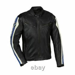 Bmw Motorbike Original Cowhide Leather Jacket With CE Approved Protections