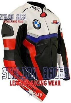 Bmw Motorbike/motorcycle Racing Cowhide Leather Jackets