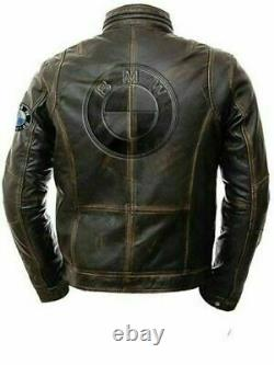 Bmw Motorrad Motorbike Leather Jacket In Cowhide/5 Inside Ce Approved Protection
