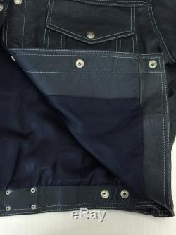 Boy London Leather Jacket Blouson Blk Back Embroidery 25464