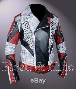 Boy's Removable Arms Carlos Cameron Boyce Descendants 2 Double Rider Jacket