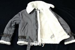 Boys Burberry London Leather Blend Sports Parka Anorak Jacket Coat 12 Years