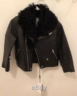 Burberry Kids Leather Jacket