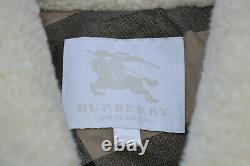 Burberry kids Childrens Shearling Biker Jacket Age 8 Leather Suede Boy girl