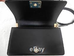 Chanel Boy Jacket Calf Leather Medium Black Classic Flap Bag