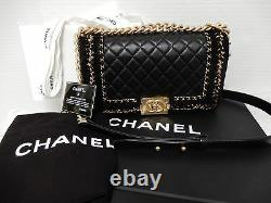 Chanel Boy Jacket Medium Black Flap Bag Limited Edition