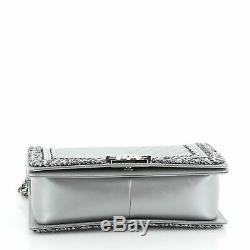 Chanel Jacket Boy Flap Bag Chevron Calfskin with Tweed Old Medium