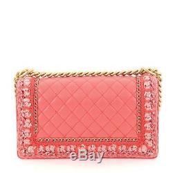 Chanel Jacket Boy Flap Bag Quilted Lambskin with Tweed Old Medium