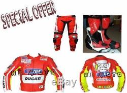 Cheap Deal Ducati Motorcycle Motorbike Racing Motogp Leather Jacket Pant Boot