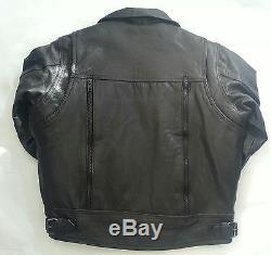 Classic Kids Motorcycle Jackets Black Leather 8 Boys Biker Coat Childs m
