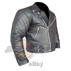Custom 4588 Gun Metal Hand Made Leather Motorcycle Racing Armoured Biker Jacket