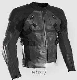DEADPOOL Racing Motorcycle Biker Leather Jacket Mens Motorbike Leather Jackets