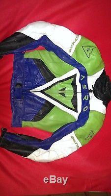 Dainese Aero Kawasaki Green Jacket & Trouser 2 pieces MEDIUM/LARGE UK SIZE 34-36