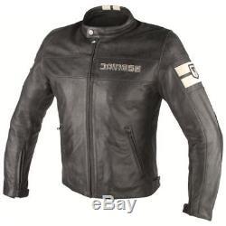 Dainese HF D1 Black Ice Leather Jacket Motorcycle Jacket, NEW