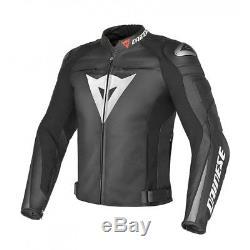 Dainese Super Speed C2 Black Leather Motorcycle Motorbike Jacket EU46 UK36