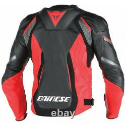 Dainese Super Speed Perforated Leather Jacket Mens Motorcycle Motorbike Track