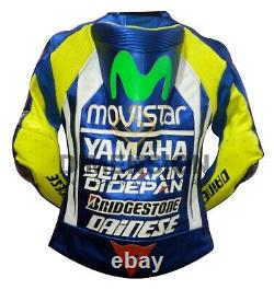 Dainese Valentino Rossi VR 46 Motorbike Leather Racing Jacket Motorcycle Racing