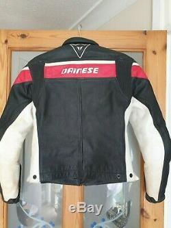 Dainese leather ladies motorcycle jacket. Size EU 40 (UK 10)Red, Black, White