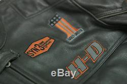 Davidson Screaming Eagle Motorcycle Motorbike Mens Cowhide Leather Jacket
