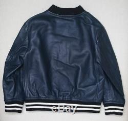 Dolce & Gabbana Boys Navy Blue Leather Jacket 2 Years