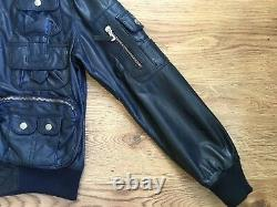 Dolce & Gabbana Junior Boys Leather bomber Jacket. Size boys XS 143-149 cm D&G