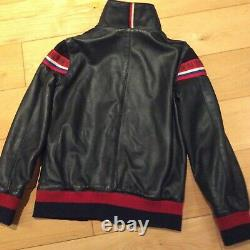 Dolce & Gabbana vintage leather childrens jacket fits age 7-8 years Boy Girl