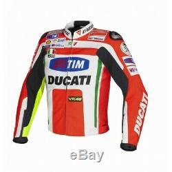 Ducati Customized Motorcycle Cowhide Leather Street Racing Motorbike Jacket
