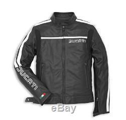 Ducati Dainese 80´S ´14 Leather Jacket Black Motorcycle Retro Vintage Size 58