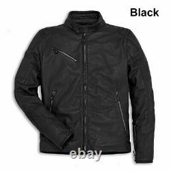 Ducati Downtown Retro Urban Brown Soft Leather Mens Motorbike Motorcycle Jacket