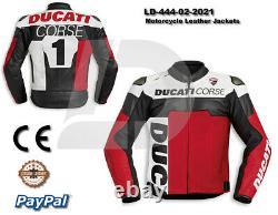 Ducati Motogp Motorcycle Motorbike Cowhide Leather Racing Bikers Jacket