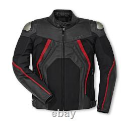 Ducati Motorbike Jacket Top Quality Cowhide Leather with 5 Inner CE Protections