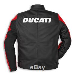 Ducati Motorbike Leather Racing Biker Leather Jacket With CE Armors Removable 20