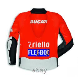 Ducati Motorbike / Motorcycle Leather Jacket In Cowhide/5 Protection/ All Sizes