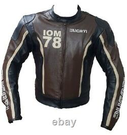 Ducati Motorbike / Motorcycle Leather Jacket In Cowhide/Protection/ All Size